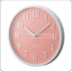 IDEA - LABEL WALL CLOCK (PINK)