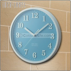 IDEA - LABEL WALL CLOCK (BLUE)