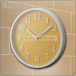 IDEA - LABEL WALL CLOCK (YELLOW)