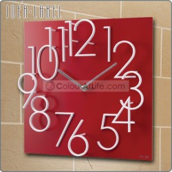 JAPAN 3D WALL CLOCK (RED/MADE IN TAIWAN)
