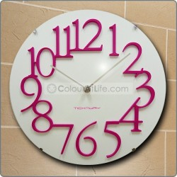 JAPAN WALL CLOCK WITH GLASS COVER (PINK)