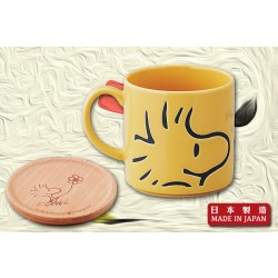 WWoodstock Porcelain Mug (with lid) (Yellow)|Made in Japan