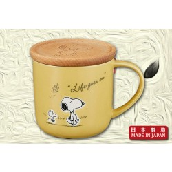 "Snoopy ""Life Goes On"" Mug (Yellow