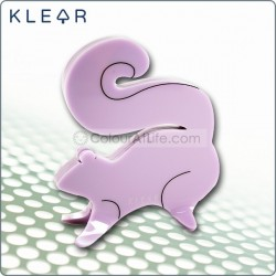 Squirrel Clip Holder (Purple)