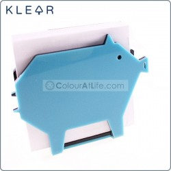 Pig-gami Memo Holder (Blue)