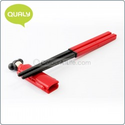 Mrs Lee Chopsticks & Holder (Red)