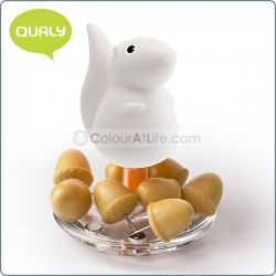 Squirrel & Acorn - Pin Holder (WHITE)