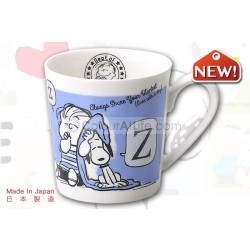 Snoopy Nostalgic Mug (blue)|Made in Japan