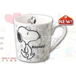 Snoopy Nostalgic Mug (ash grey)|Made in Japan